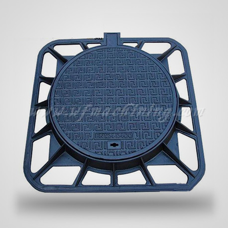 En124 Watertight Ductile Iron Manhole Cover of Resin Casting Process