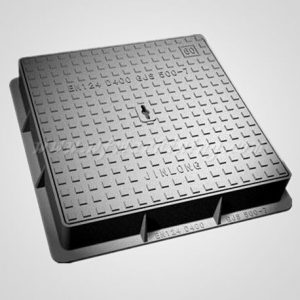 Ductile Iron Sand Casting Square Manhole Covers with Lock & Hinge